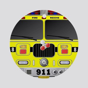 Fire Engine - Traditional fire engi Round Ornament