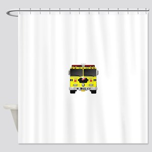 Fire Engine - Traditional fire engi Shower Curtain