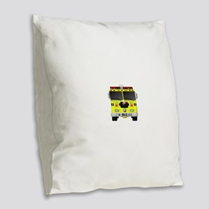 Fire Engine - Traditional fire Burlap Throw Pillow