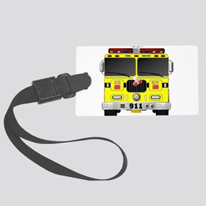 Fire Engine - Traditional fire e Large Luggage Tag