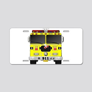 Fire Engine - Traditional f Aluminum License Plate
