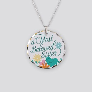 A Most Beloved Sister Necklace Circle Charm