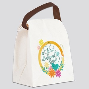 A Most Beloved Sister Canvas Lunch Bag