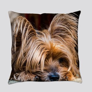 Yorkshire Terrier Dog Small Cute P Everyday Pillow