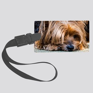 Yorkshire Terrier Dog Small Cute Large Luggage Tag