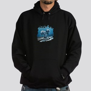 Two Manatees Swimming Hoodie