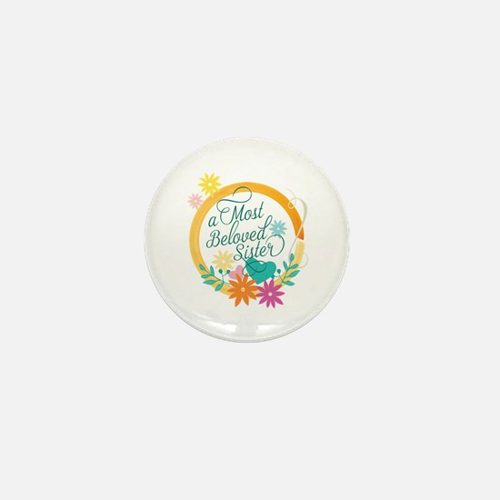 A Most Beloved Sister Mini Button