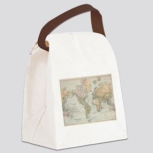 Vintage Map of The World (1892) Canvas Lunch Bag