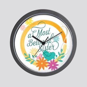 A Most Beloved Sister Wall Clock