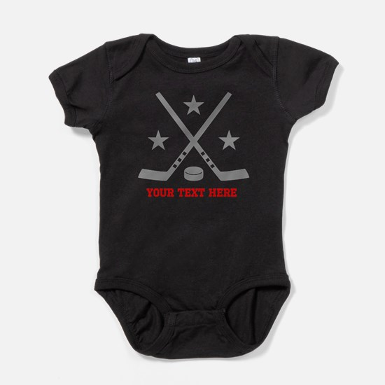 Hockey Personalized Baby Bodysuit