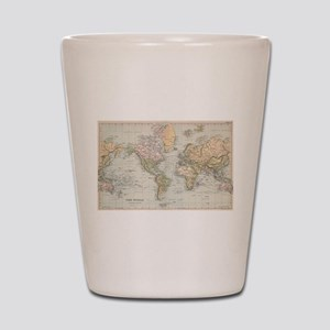 Vintage Map of The World (1892) Shot Glass