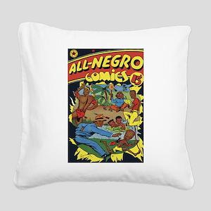 $24.99 All-Negro Comics Square Canvas Pillow