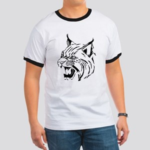 Tiger Wildcat Cat Head Face Lineart Animal T-Shirt