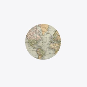 Vintage Map of The World (1892) Mini Button
