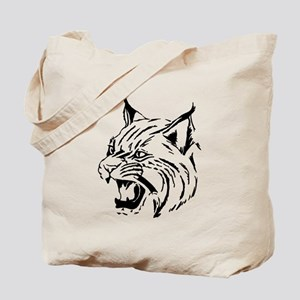 Tiger Wildcat Cat Head Face Lineart Anima Tote Bag