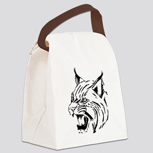 Tiger Wildcat Cat Head Face Linea Canvas Lunch Bag