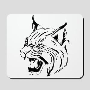 Tiger Wildcat Cat Head Face Lineart Anim Mousepad
