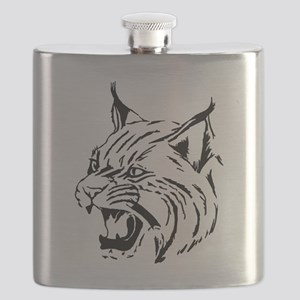 Tiger Wildcat Cat Head Face Lineart Animal Flask