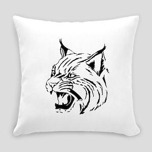 Tiger Wildcat Cat Head Face Linear Everyday Pillow