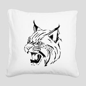 Tiger Wildcat Cat Head Face L Square Canvas Pillow