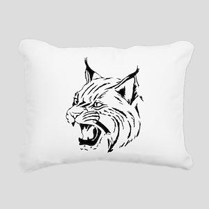 Tiger Wildcat Cat Head F Rectangular Canvas Pillow
