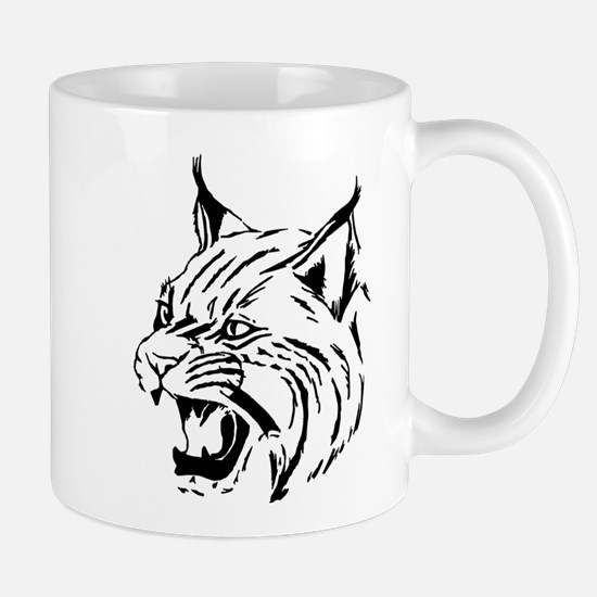 Tiger Wildcat Cat Head Face Lineart Animal Mugs