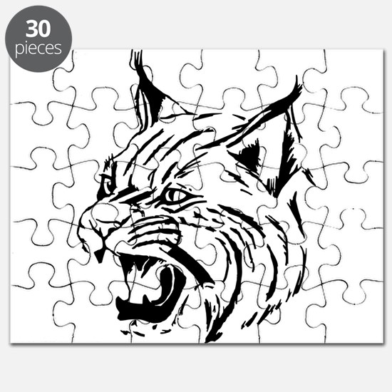 Tiger Wildcat Cat Head Face Lineart Animal Puzzle
