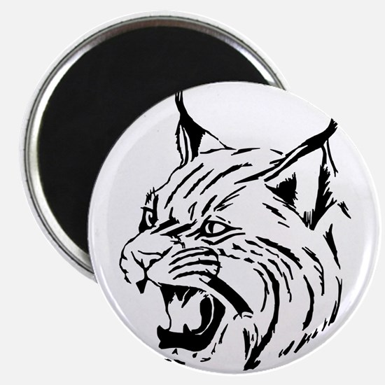 Tiger Wildcat Cat Head Face Lineart Animal Magnets