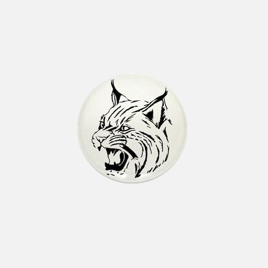 Tiger Wildcat Cat Head Face Lineart An Mini Button