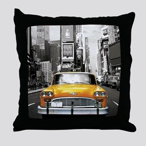 I LOVE NYC - New York Taxi Throw Pillow