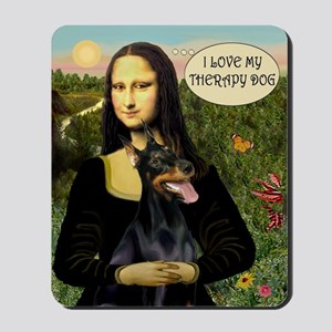 Mona/Doberman Therapy Mousepad
