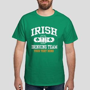 Irish Drinking Team Personalized Dark T-Shirt