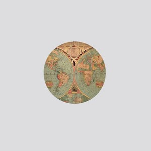 Vintage Map of The World (1883) Mini Button