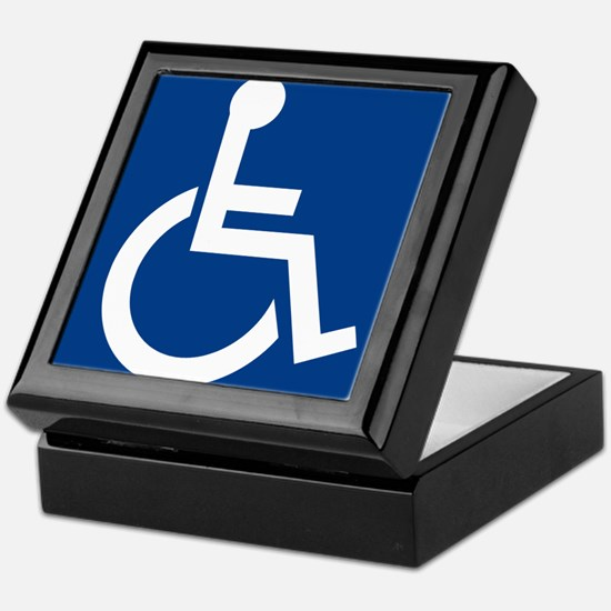 Handicap Sign Keepsake Box