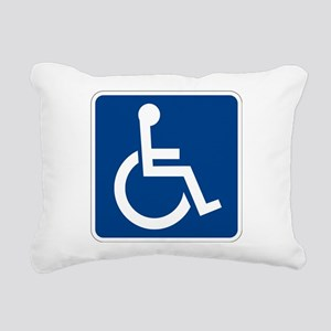 Handicap Sign Rectangular Canvas Pillow