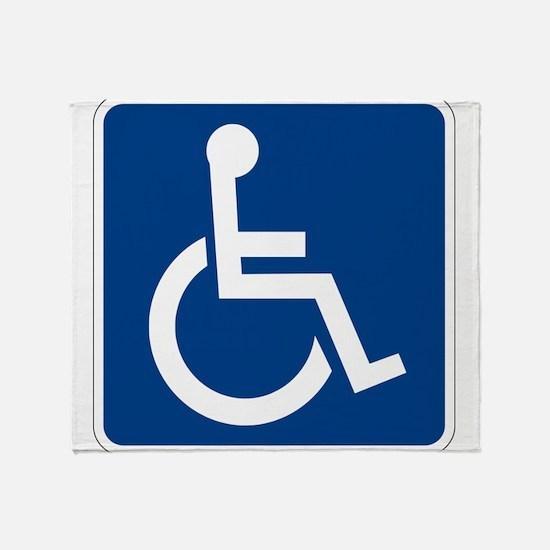 Handicap Sign Throw Blanket