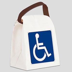 Handicap Sign Canvas Lunch Bag