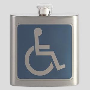 Handicap Sign Flask