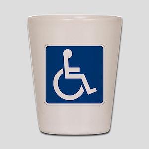 Handicap Sign Shot Glass