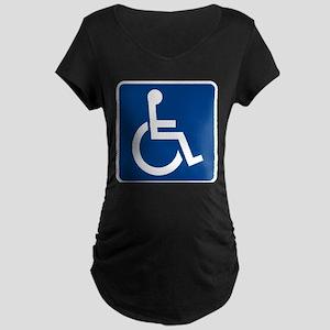 Handicap Sign Maternity T-Shirt