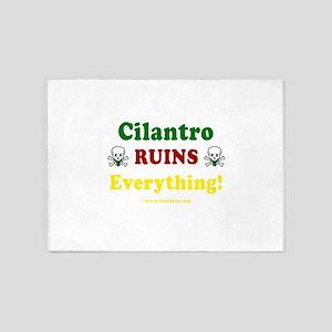 Cilantro Ruins Everything v3 5'x7'Area Rug