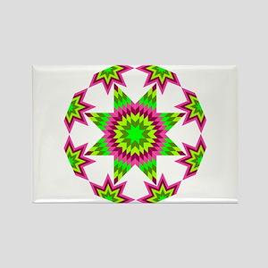 Native Star Burst Pink Magnets