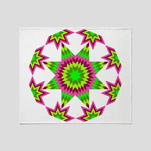 Native Star Burst Pink Throw Blanket