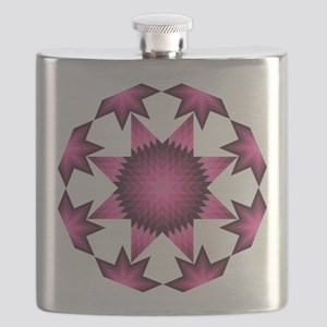Native Star Burst Dark Pink Flask