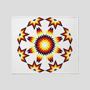 Native Star Burst 4 Directions Throw Blanket