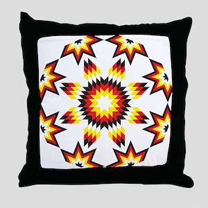 Native Star Burst 4 Directions Throw Pillow