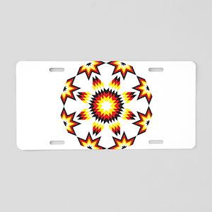 Native Star Burst 4 Directi Aluminum License Plate