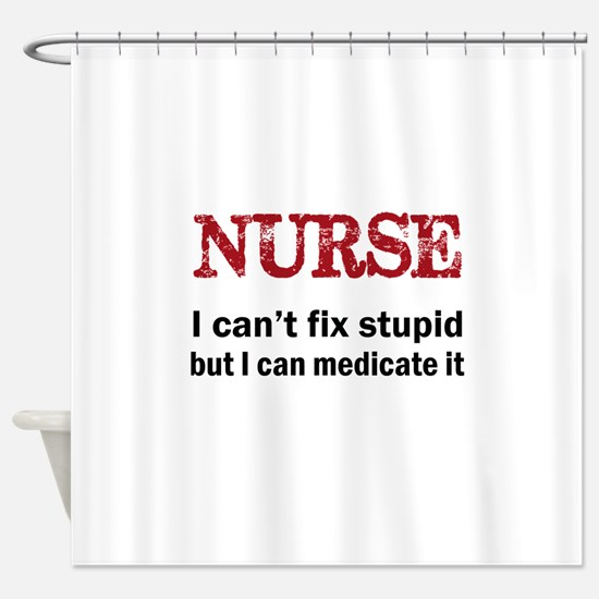 NURSE TOO Shower Curtain