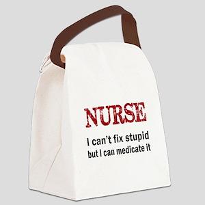 NURSE TOO Canvas Lunch Bag