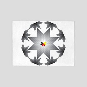 Native Star Burst Grey 5'x7'Area Rug